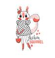 fashion kawaii animal a vector image vector image