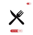 fork and knife icon restaurant symbol vector image vector image