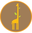 Funny giraffe with long neck and leaves vector image vector image