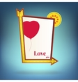 Glowing motel sign Love you vector image vector image
