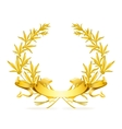 Gold wreath vector image vector image