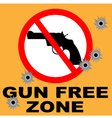 gun free zone vector image vector image