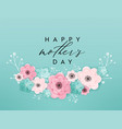 happy mothers day holiday banner mother day card vector image vector image