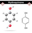 Hydroquinone molecule vector image vector image