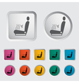 icon heated seat vector image vector image