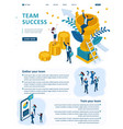 isometric success of a good business team vector image