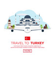 istanbul turkey blue mosque tourism travelling vector image vector image