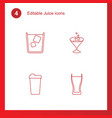 juice icons vector image vector image