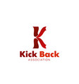 kick back icon for sporting themes design vector image vector image