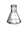 laboratory equipment sketch hand drawn glass vector image vector image
