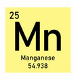 manganese element icon vector image vector image