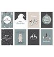 merry christmas cards and icons vector image vector image
