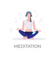 music for meditation vector image vector image