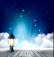 night nature sky background with clouds and stars vector image vector image