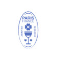 Paris arrival ink stamp on passport