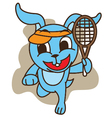Rabbit Playing Tennis vector image vector image