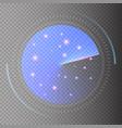 radar screen sonar search hud vector image vector image