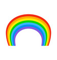 rainbow isolated natural colored arc on white vector image vector image