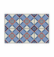 red and blue patterned tiles vector image vector image