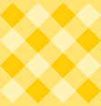 seamless yellow plaid background - checkered tile vector image