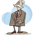 senior businessman with cane vector image vector image