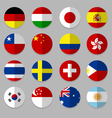 set flags icon vector image