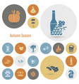set of flat autumn icons vector image vector image