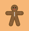 simple cartoon ginger cookies vector image