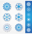 snow sticker vector image