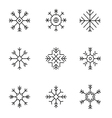 Snowflake icons set variable line vector image