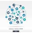 Social media connection concept Abstract vector image vector image