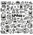 space - doodles set vector image vector image