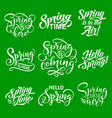 spring lettering for springtime season holiday vector image
