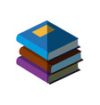 stack books literature library learn read vector image vector image