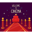 star red carpet and cinema armchair with vector image vector image