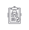 status approved line icon concept status approved vector image vector image