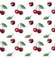 summer pattern with sweet cherries seamless vector image
