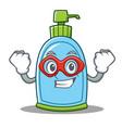 super hero liquid soap character cartoon vector image