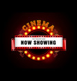 theater sign theater glowing circle retro style vector image