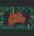 tropical natural vintage colorful template vector image