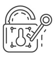 unlock device security icon outline style vector image vector image