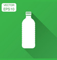 water bottle icon in flat style plastic soda vector image vector image