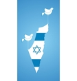 white dove holding map of Israel vector image vector image