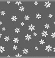 white snowflakes on a gray background seamless vector image