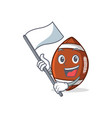 with flag american football character cartoon vector image