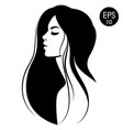 woman with black hair fashion vector image vector image