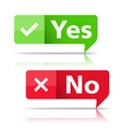Yes and No Banners vector image
