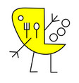 spoon and fork icon food dining bar cafe vector image