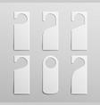 paper plastic door handle lock hangers clean door vector image