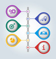 set of icons with scheme and steps of work vector image